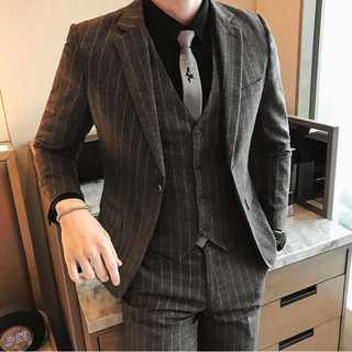 ストライプ スーツジャケット スーツメンズ 紳士 セットアップzb395(セットアップ)