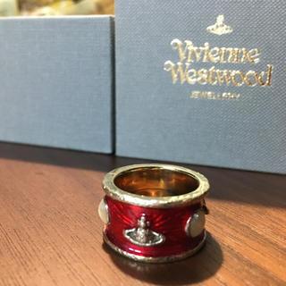 ヴィヴィアンウエストウッド(Vivienne Westwood)の【廃盤】ヴィヴィアン ウエストウッド キングリング 赤×ゴールド(リング(指輪))