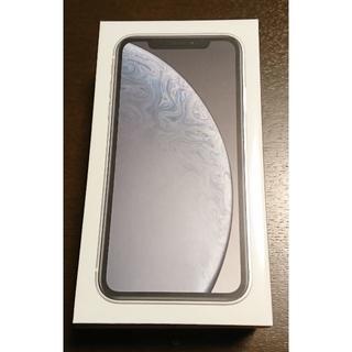 新品 KDDI(au) iPhoneXR 256GB White SIMフリー(スマートフォン本体)