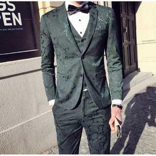 タキシード セットアップ 結婚式 ビジネス スーツジャケット zb447(セットアップ)