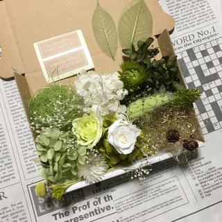 フレッシュグリーン&ピュアホワイト*花材詰め合わせ(プリザーブドフラワー)