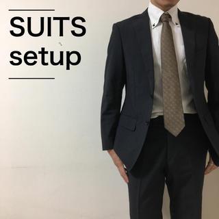 〈美品〉SUITS スーツ メンズ 上下セット セットアップ ピンストライプ(セットアップ)
