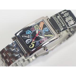 メタルウォッチ レディース 腕時計 ブラックマルチ(腕時計)
