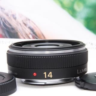 パナソニック(Panasonic)の人気パンケーキパナソニックG VARIO 14mm F2.5単焦点ブラック(レンズ(単焦点))