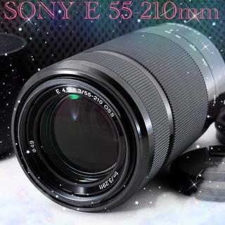 ソニー(SONY)の❤️ほぼ新品❤️ソニー ミラーレス用望遠ズームE55-210❤️希少ブラック(レンズ(ズーム))
