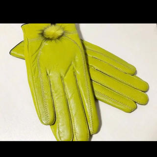【新品未使用&送料無料♬】羊革100% 定価6,900円 レザー手袋(手袋)