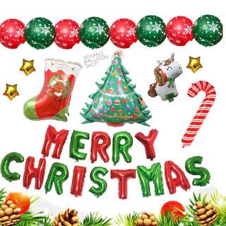 クリスマス バルーン 風船 飾り 誕生日 お祝い サンタ ツリー (その他)