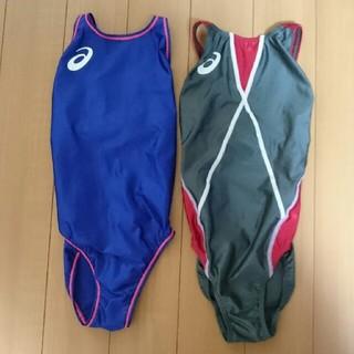 アシックス(asics)の競泳用 水着 ジュニア 140  2枚セット(マリン/スイミング)