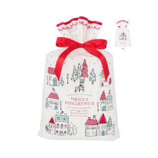 クリスマス ♥ リボン付 ギフト袋 + シール(ラッピング/包装)