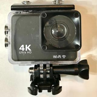 4GB_SDカード付ですぐに使えるアクションカメラ 4K Wi-Fi 30M防水(コンパクトデジタルカメラ)