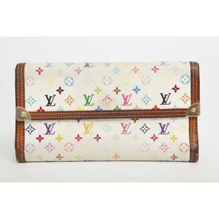 ルイヴィトン(LOUIS VUITTON)の本物 ルイ ヴィトン マルチカラー 長財布 正規品 まだまだ使える(財布)