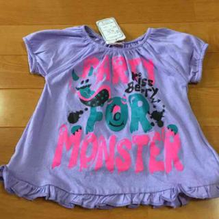新品♡Tシャツ 90cm パープル(Tシャツ/カットソー)