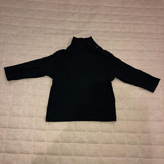 UNIQLO - ユニクロ ハイネックTシャツ 黒