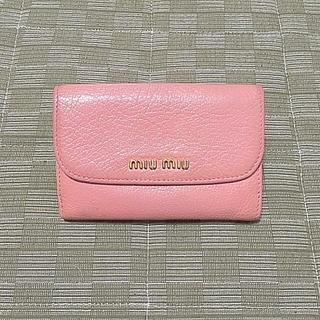 ミュウミュウ(miumiu)のミュウミュウ ミニ 財布 ピンク(財布)