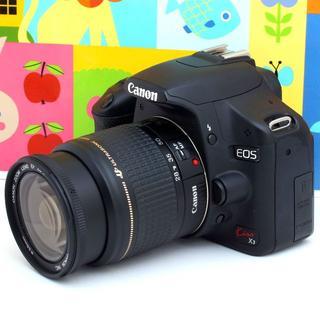 キヤノン(Canon)の使いやすく機能充実★一眼レフカメラ★スマホに転送★キャノン Kiss X3(デジタル一眼)