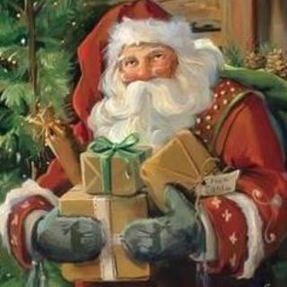 クリスマスのおもちゃ箱(絵画/タペストリー)