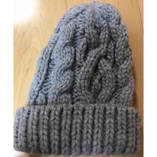 ジーユー(GU)のニット帽 GU グレー(ニット帽/ビーニー)