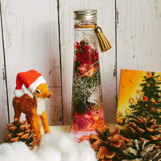 送料無料☆ハーバリウム  クリスマス カラーオイル(インテリア雑貨)