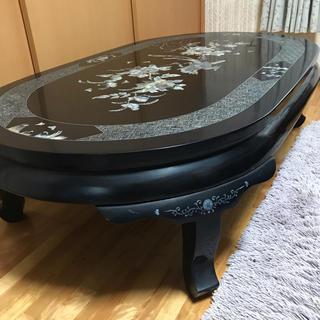 インテリア テーブル アンティーク 豪華螺鈿座卓(ローテーブル)