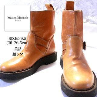 マルタンマルジェラ(Maison Martin Margiela)の美品 メゾン マルジェラ Maison Margiela ブーツ 39.5 茶色(ブーツ)