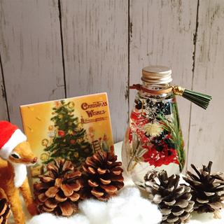 送料無料☆ ハーバリウム クリスマス お正月 オーバル(インテリア雑貨)
