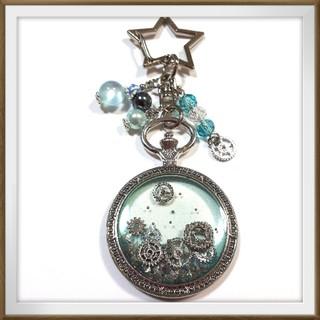 懐中時計枠の歯車キーホルダー(シルバー)(キーホルダー/ストラップ)
