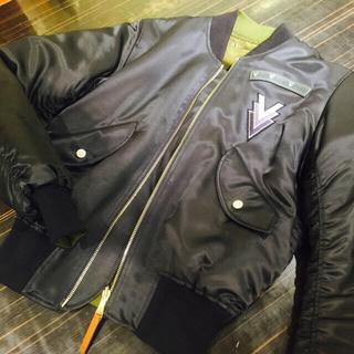 ルイヴィトン(LOUIS VUITTON)のLouisVuitton シルクボンバージャケット サイズ44(ブルゾン)
