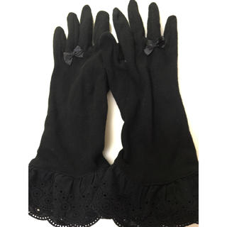 UVカット機能付きショート手袋★黒(手袋)