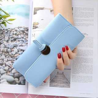 【スマホも入る♪】便利 可愛い 長財布 レディース ブルー z48403(財布)