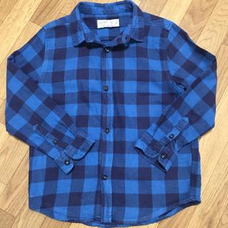 ザラ(ZARA)のZARA BOYS チェック ネルシャツ(Tシャツ/カットソー)