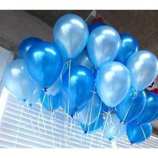 GB006(100)ブルー×ライトブルー!大量極厚パール風船100個セット(その他)