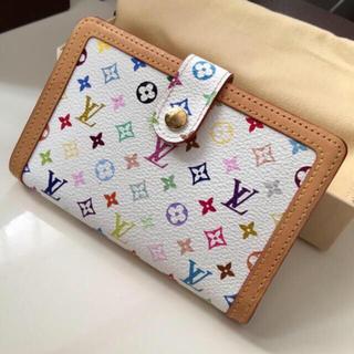 ルイヴィトン(LOUIS VUITTON)の極美品‼️正規品ルイヴィトンマルチカラーがま口折り財布  (財布)