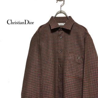 クリスチャンディオール(Christian Dior)のChristian Dior クリスチャンディオール チェックシャツ(シャツ)
