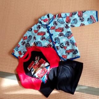 Disney - 美品 カーズ 長袖パジャマ&フリースガウン 100cm