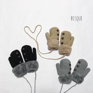 新品 モコモコ手袋 キッズ ベビー手袋 冬 1歳 2歳 3歳 4歳 5歳(手袋)