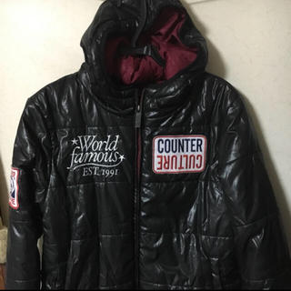 カウンターカルチャー(Counter Culture)の訳あり❣️counter culture中綿いり帽子ジャケット・コート刺繍 M(ダウンジャケット)