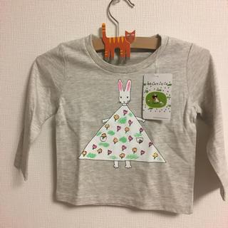 グラニフ(Design Tshirts Store graniph)のグラニフ わたしのワンピース 長袖Tシャツ 90サイズ グレー(Tシャツ/カットソー)