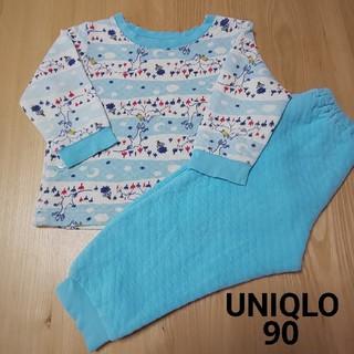 ユニクロ(UNIQLO)のユニクロ パジャマ 90 ムーミン ブルー(パジャマ)