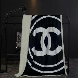 CHANEL - シャネルロゴ Chanel大型ブランケット 厚手 毛布 寝具