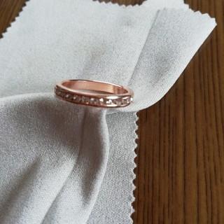 ピンクゴールド15号ー人工ダイヤリング(リング(指輪))