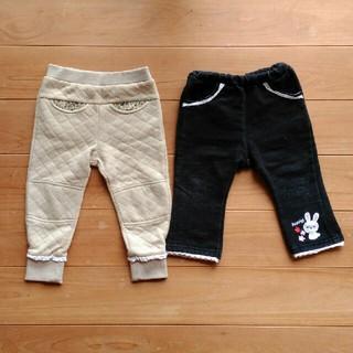 ニシマツヤ(西松屋)の【80サイズ】女の子 ズボン 2枚セット(パンツ)
