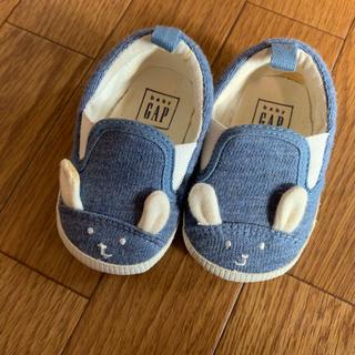 ベビーギャップ(babyGAP)のbabyGAP ファーストシューズ 3-6ヶ月 ウサギさん ベビーシューズ(スニーカー)