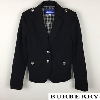 バーバリーブルーレーベル(BURBERRY BLUE LABEL)の極美品 BURBERRY BLUE LABEL テーラードジャケット ブラック(テーラードジャケット)