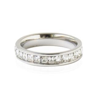 シルバー エタニティリング ステンレス 指輪 シンプル レディース(リング(指輪))
