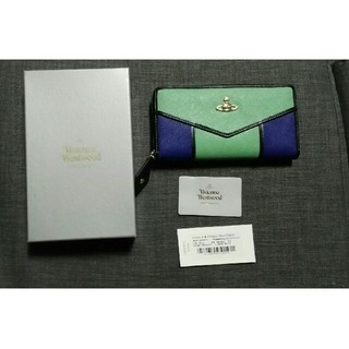 ヴィヴィアンウエストウッド(Vivienne Westwood)のヴィヴィアンウエストウッド 新品 長財布 グリーン ブルー(財布)