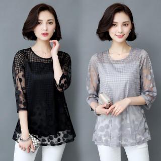 半袖 Tシャツ メッシュ 大きいサイズ有り(Tシャツ(長袖/七分))
