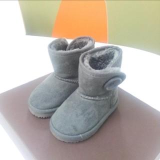 ムートンブーツ グレー 13.5cm(ブーツ)