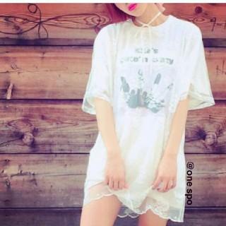 ワンスポ(one spo)のワンスポ レースオーガンジー トップス(Tシャツ(半袖/袖なし))
