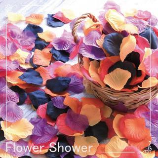 オータム 秋 フラワーシャワー 限定 造花 1000枚 挙式 花びら 結婚式(ウェディングドレス)