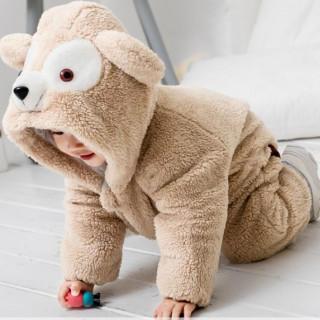 大人気商品★ふわもこロンパース カバーオール 着ぐるみ 80-90サイズ(パジャマ)